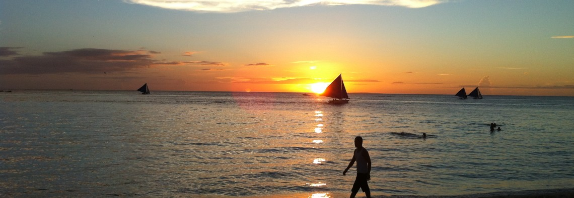 Living in this Moment: Cherishing a Beautiful Sunset in Boracay