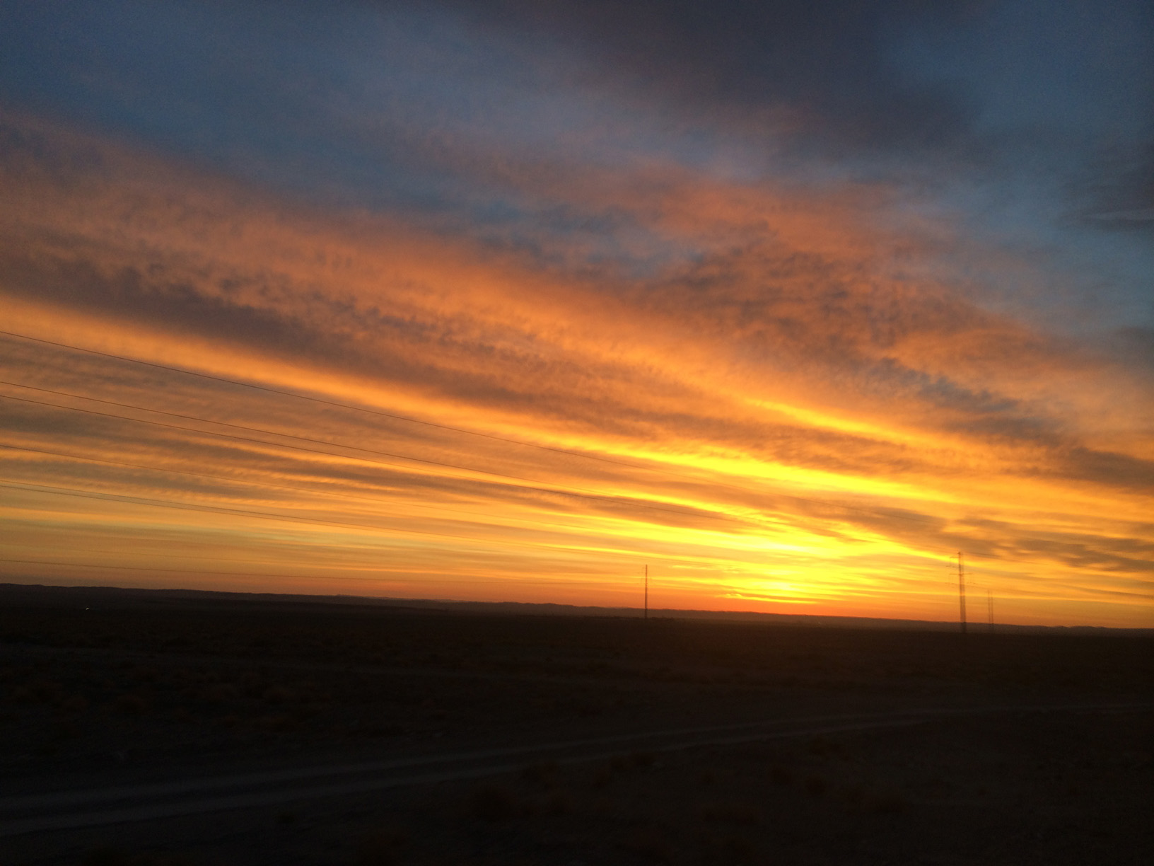 sunset in the gobi